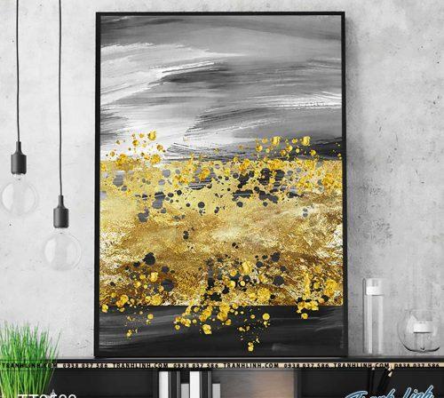 Bo tranh Canvas treo tuong trang tri phong khach truu tuong TT0533