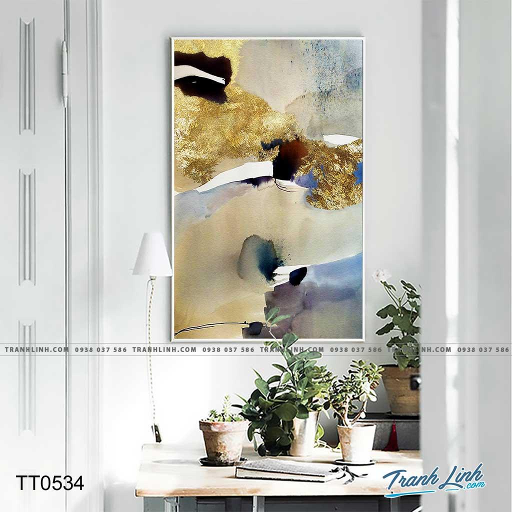Bo tranh Canvas treo tuong trang tri phong khach truu tuong TT0534