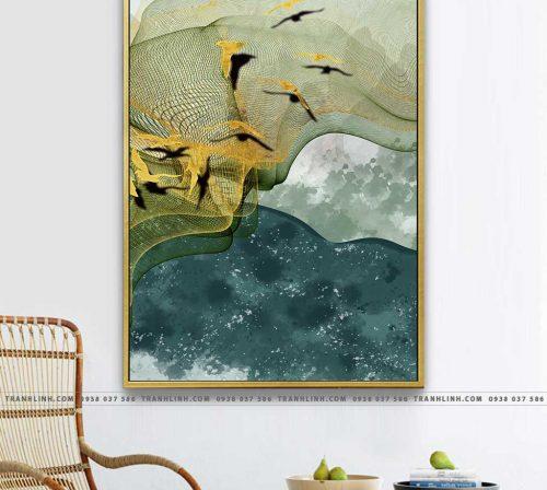 Bo tranh Canvas treo tuong trang tri phong khach truu tuong TT0539