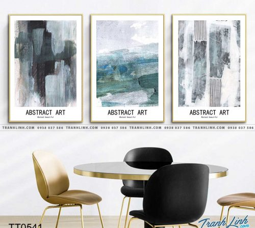 Bo tranh Canvas treo tuong trang tri phong khach truu tuong TT0541