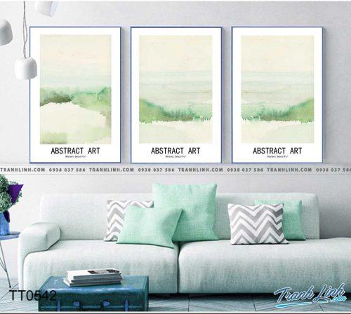 Bo tranh Canvas treo tuong trang tri phong khach truu tuong TT0542