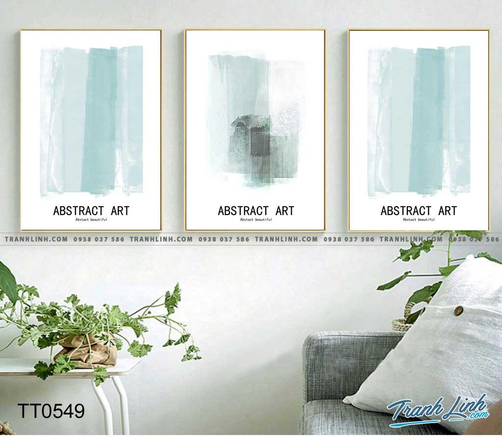 Bo tranh Canvas treo tuong trang tri phong khach truu tuong TT0549
