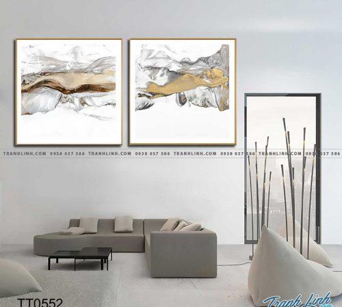 Bo tranh Canvas treo tuong trang tri phong khach truu tuong TT0552