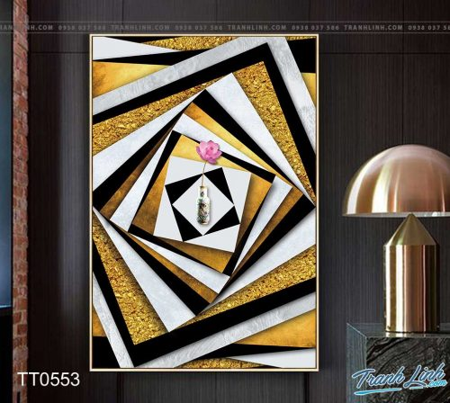 Bo tranh Canvas treo tuong trang tri phong khach truu tuong TT0553