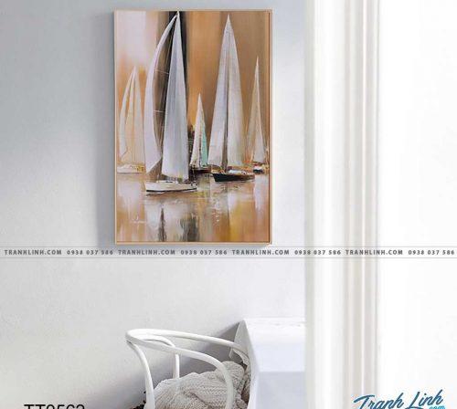 Bo tranh Canvas treo tuong trang tri phong khach truu tuong TT0562