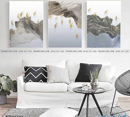 Bo tranh Canvas treo tuong trang tri phong khach truu tuong TT0563