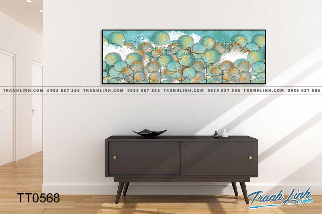 Bo tranh Canvas treo tuong trang tri phong khach truu tuong TT0568