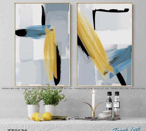 Bo tranh Canvas treo tuong trang tri phong khach truu tuong TT0570