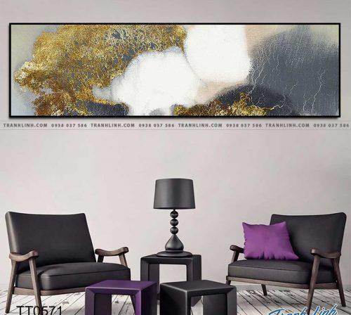 Bo tranh Canvas treo tuong trang tri phong khach truu tuong TT0571