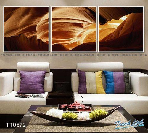 Bo tranh Canvas treo tuong trang tri phong khach truu tuong TT0572