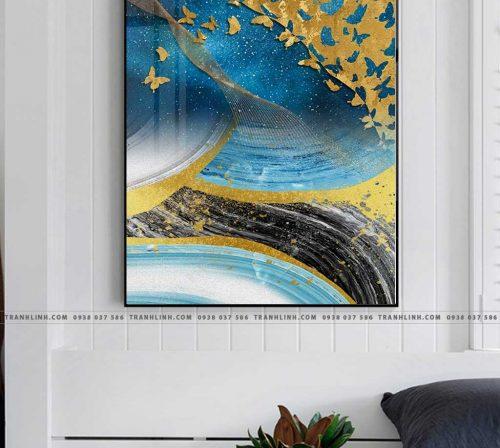 Bo tranh Canvas treo tuong trang tri phong khach truu tuong TT0573