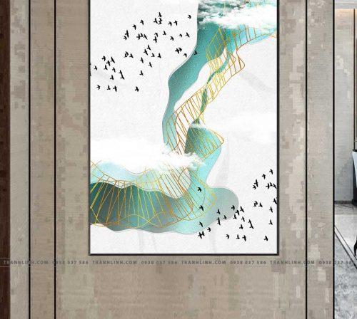 Bo tranh Canvas treo tuong trang tri phong khach truu tuong TT0579