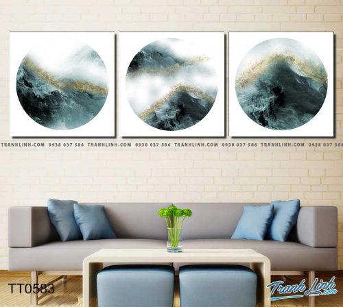 Bo tranh Canvas treo tuong trang tri phong khach truu tuong TT0583