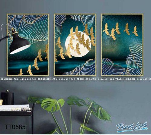 Bo tranh Canvas treo tuong trang tri phong khach truu tuong TT0585