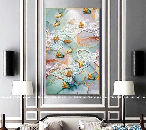 Bo tranh Canvas treo tuong trang tri phong khach truu tuong TT0587