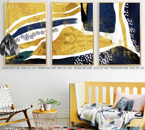 Bo tranh Canvas treo tuong trang tri phong khach truu tuong TT0592