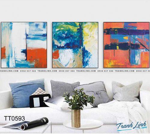 Bo tranh Canvas treo tuong trang tri phong khach truu tuong TT0593