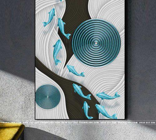 Bo tranh Canvas treo tuong trang tri phong khach truu tuong TT0594
