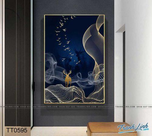 Bo tranh Canvas treo tuong trang tri phong khach truu tuong TT0595