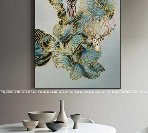 Bo tranh Canvas treo tuong trang tri phong khach truu tuong TT0601