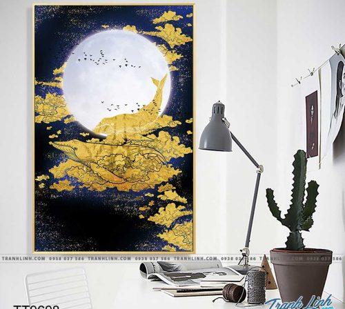 Bo tranh Canvas treo tuong trang tri phong khach truu tuong TT0608