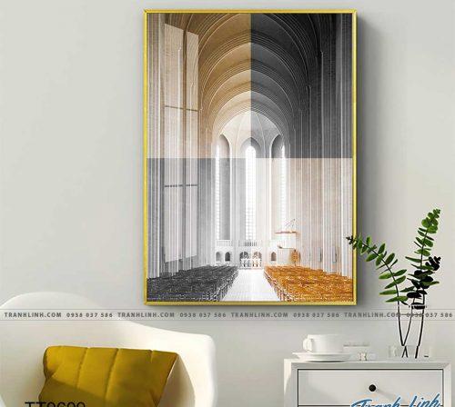 Bo tranh Canvas treo tuong trang tri phong khach truu tuong TT0609