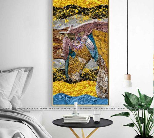 Bo tranh Canvas treo tuong trang tri phong khach truu tuong TT0613