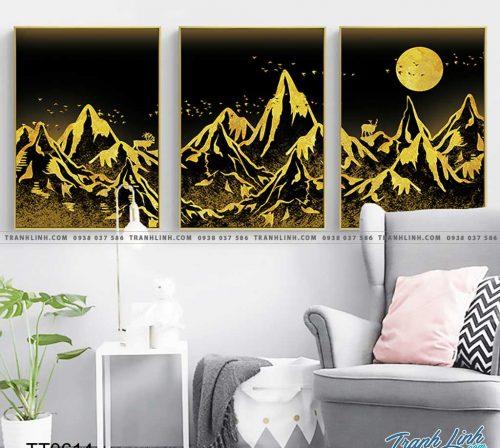 Bo tranh Canvas treo tuong trang tri phong khach truu tuong TT0614
