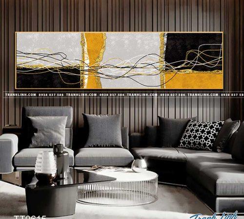 Bo tranh Canvas treo tuong trang tri phong khach truu tuong TT0615