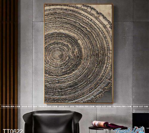 Bo tranh Canvas treo tuong trang tri phong khach truu tuong TT0622
