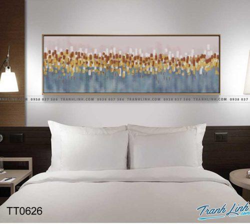 Bo tranh Canvas treo tuong trang tri phong khach truu tuong TT0626