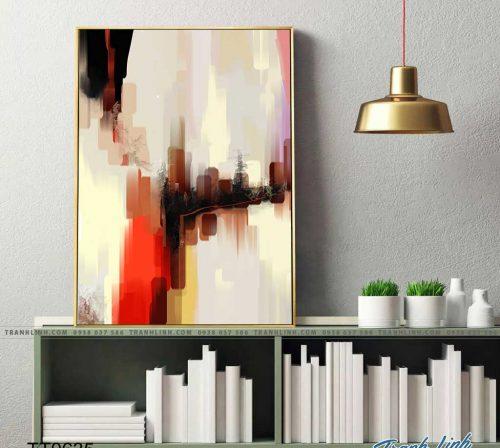 Bo tranh Canvas treo tuong trang tri phong khach truu tuong TT0635