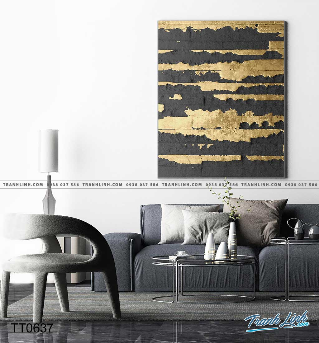 Bo tranh Canvas treo tuong trang tri phong khach truu tuong TT0637