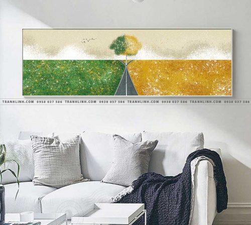 Bo tranh Canvas treo tuong trang tri phong khach truu tuong TT0642 1