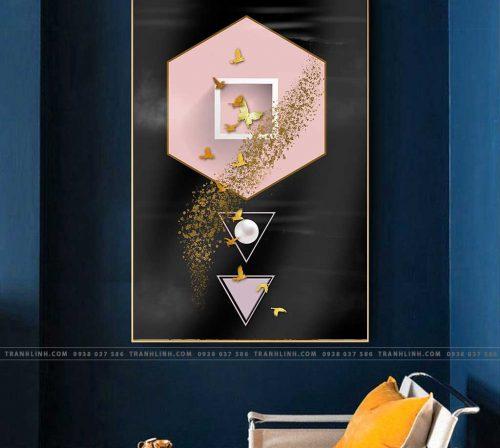 Bo tranh Canvas treo tuong trang tri phong khach truu tuong TT0643