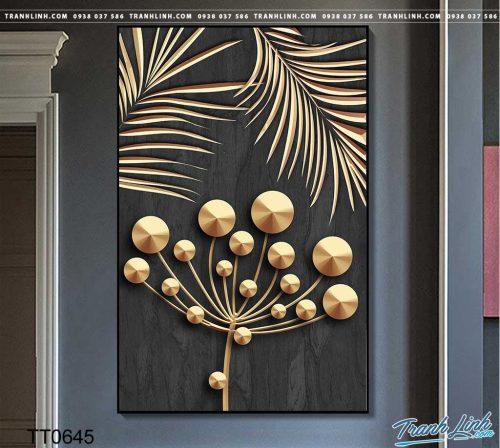 Bo tranh Canvas treo tuong trang tri phong khach truu tuong TT0645