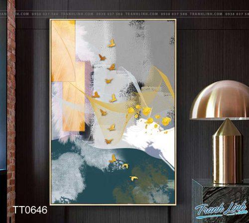 Bo tranh Canvas treo tuong trang tri phong khach truu tuong TT0646