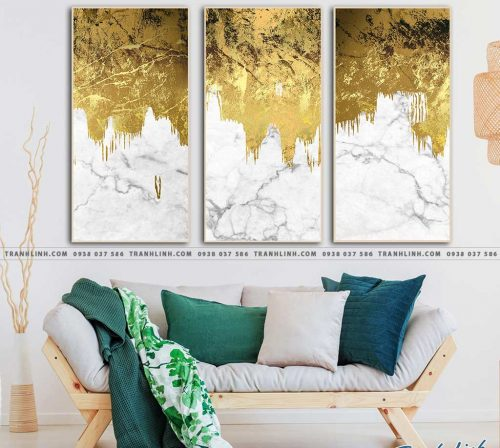 Bo tranh Canvas treo tuong trang tri phong khach truu tuong TT0648