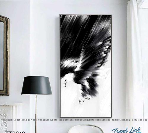 Bo tranh Canvas treo tuong trang tri phong khach truu tuong TT0649
