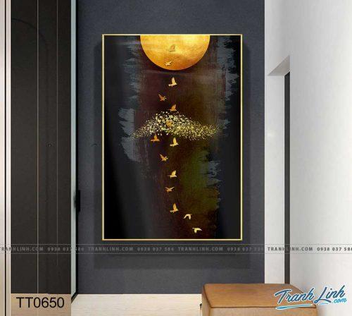 Bo tranh Canvas treo tuong trang tri phong khach truu tuong TT0650