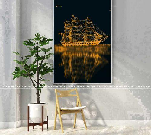 Bo tranh Canvas treo tuong trang tri phong khach truu tuong TT0654