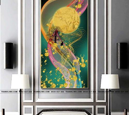 Bo tranh Canvas treo tuong trang tri phong khach truu tuong TT0658
