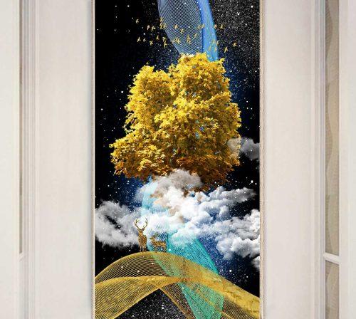 Bo tranh Canvas treo tuong trang tri phong khach truu tuong TT0659