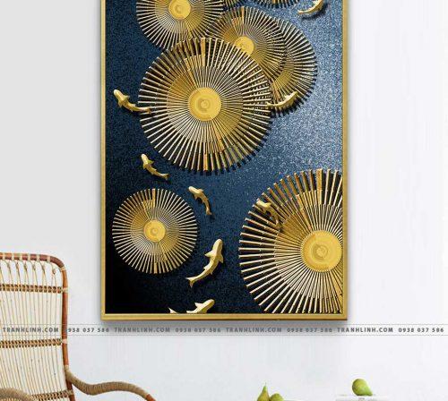 Bo tranh Canvas treo tuong trang tri phong khach truu tuong TT0660
