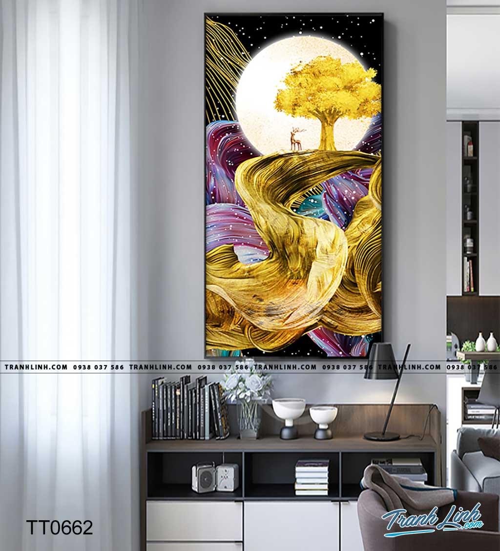 Bo tranh Canvas treo tuong trang tri phong khach truu tuong TT0662