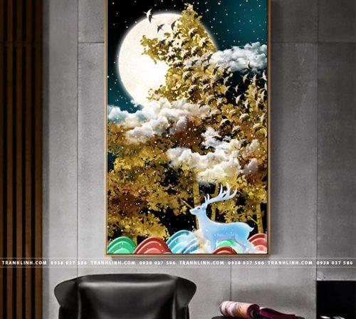 Bo tranh Canvas treo tuong trang tri phong khach truu tuong TT0665