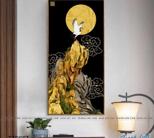 Bo tranh Canvas treo tuong trang tri phong khach truu tuong TT0667