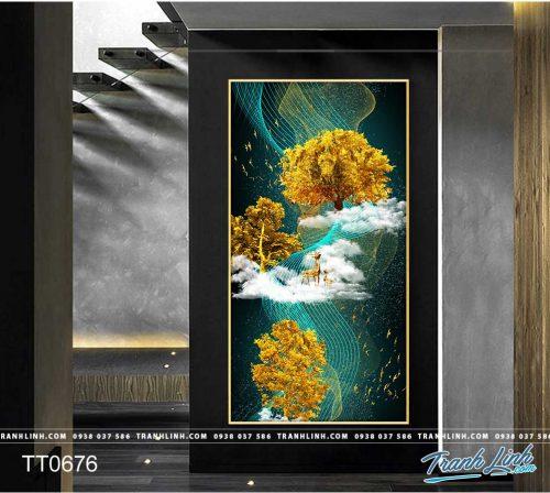 Bo tranh Canvas treo tuong trang tri phong khach truu tuong TT0676