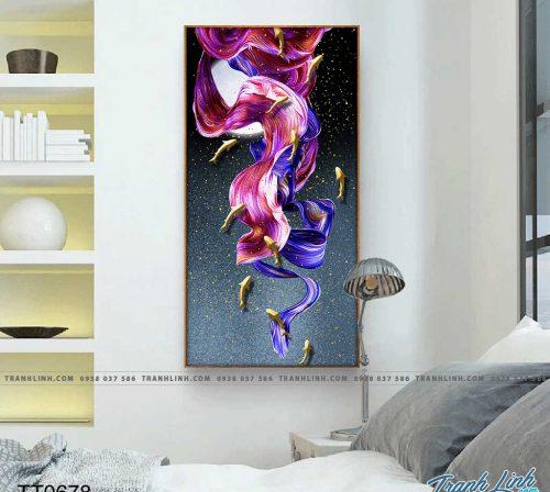 Bo tranh Canvas treo tuong trang tri phong khach truu tuong TT0678