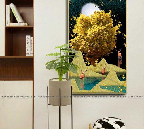 Bo tranh Canvas treo tuong trang tri phong khach truu tuong TT0679